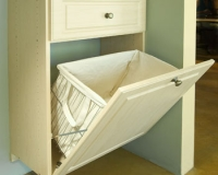 Slanted-Laundry-Basket-on-Antique-White-Hamper-Door-in-Raised-Panel