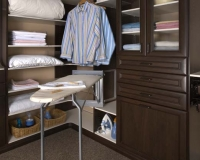 Deluxe Ironing Board in Premier Chocolate Pear and White Closet