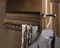 Oil-Rubbed-Bronze-Valet-Rod-and-Tie-Rack-with-Ties-and-Jacket