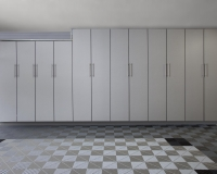 Slate-Silver-Tall-Garage-Cabinets-with-Swiss-Trax-Tile-Floor