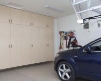 Maple-Garage-Floor-to-Ceiling-with-Blue-SUV