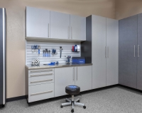 Silver-next-to-Pewter-Stianless-Workbench-with-Gray-Slatwall-Smoke-Floor-Feb-2013