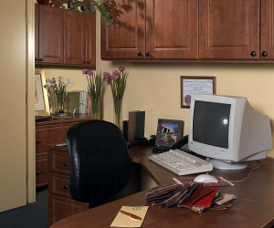 Warm-Cognac-Peninsula-Desk-Raised-Panel-Uppers-Farca