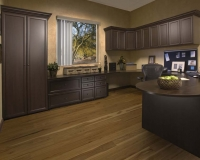Chocolate Pear Recessed Panel Office with Crown Molding