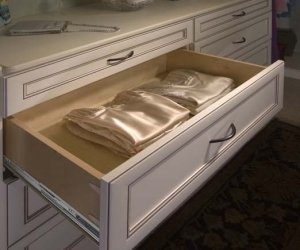 Deluxe Wood Drawer in Antique White Premier Closet
