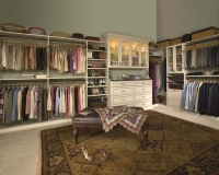 Walk In Closet in Antique White finish with Premier Recessed Panels