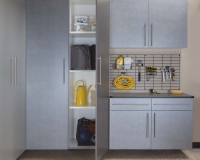 Pewter-Cabinets-Ebony-Workbench-Gridwall-Sedona-Floor-One-Door-Open-Feb-2013