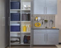 Pewter-Cabinets-Ebony-Workbench-Gridwall-Sedona-Floor-Two-Doors-Open-Feb-2013