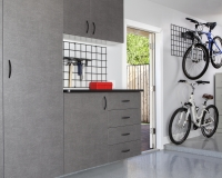 Pewter-Cabinets-with-Ebony-Star-Workbench-Bike-Racks-2012