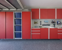 Red-Sliding-Cabinets-OPEN-w-Stainless-Workbench-Grey-Slatwall-Aug-2013