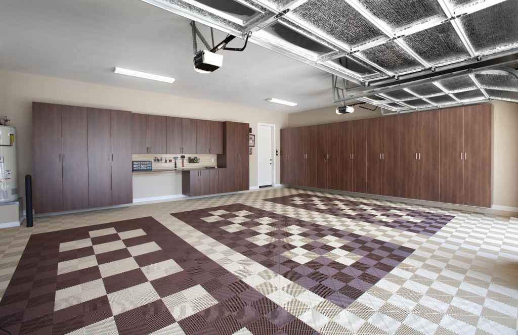 interlocking tile garage flooring