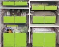 Chrome-Slide-Out-Baskets-with-Green-Wraps