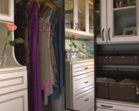 Deluxe Closet Mirror in Oil Rubbed Bronze frame finish in Antique White Premier Closet