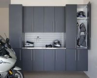 Granite-Doors-Stainless-with-Gray-Slatwall-Motorcycle-Straight-Door-Open-Feb-2013