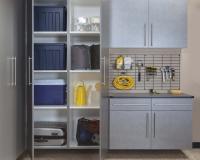 Pewter-Cabinets-Ebony-Workbench-Gridwall-Sedona-Floor-Two-Doors-Open-Feb-2013