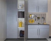 Pewter-Cabinets-Ebony-Workbench-Gridwall-Smoke-Floor-One-Door-Open-Feb-2013