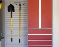 Red-Cabinet-w-Drawers-Shovel-Rake-on-Grey-Slatwall-Aug-2013