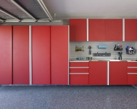 Red-Sliding-Cabinets-CLOSED-w-Stainless-Workbench-Grey-Slatwall-Aug-2013