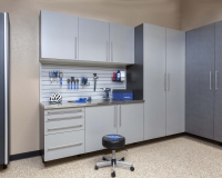 Silver-next-to-Pewter-Stianless-Workbench-with-Gray-Slatwall-Sedona-Floor-Feb-2013