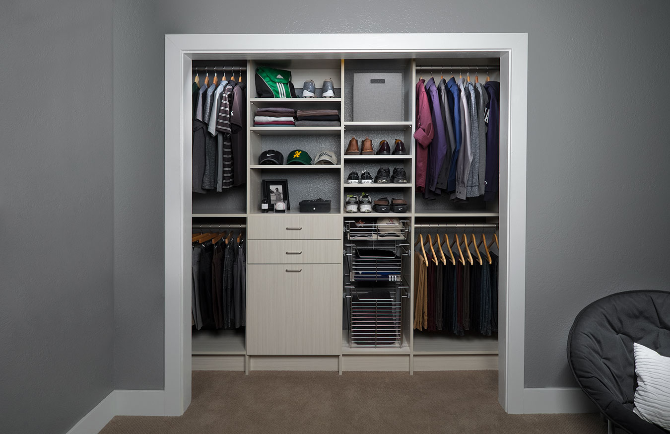 small closet organization reach in closet design closet organization amp installation 29557