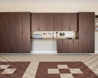 Coco-Garage-Cabinets-with-Workbench-Swiss-Trax-Tile-Flooring