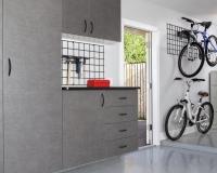 Pewter-Cabinets-with-Ebony-Star-Workbench-Bike-Racks-2012