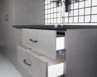 Pewter-Workbench-with-Open-Drawers-2012