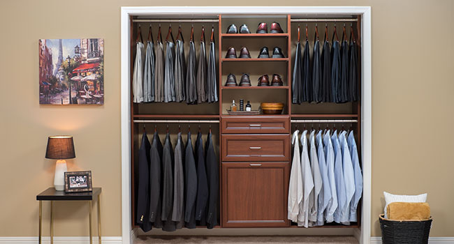 closet organization is key
