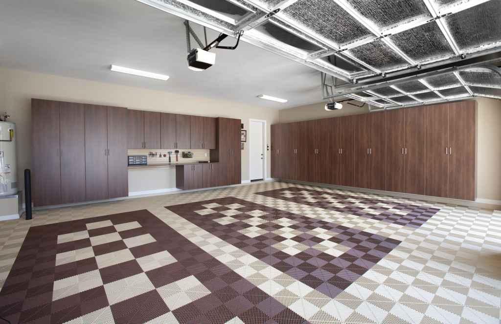 interlocking tile garage flooring